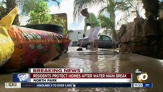 Residents try to recover from latest water main break in North Park
