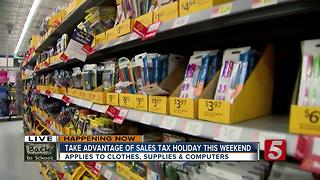 Take Advantage Of Sales Tax Holiday This Weekend
