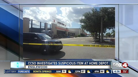 Suspicious item at Englewood Home Depot deemed not an explosive