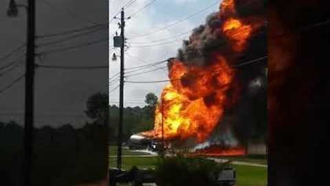 Crash Causes Gas Tanker Fire in Mobile, Alabama