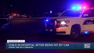 PD: Child seriously hurt after struck by vehicle in W. Phoenix