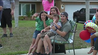 Birthday parade for boy in Cape Coral