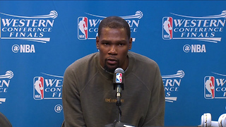 "Kevin Durant Says ""Don't Blame Me"" for Other Teams Sucking - Video"