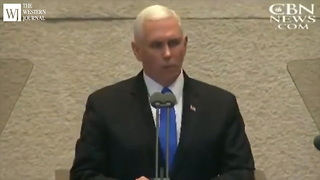 Pence: Trump to Designate US Embassy in Jerusalem a Lot Earlier Than Expected - Video
