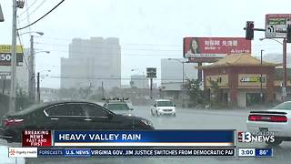 Heavy rain hits Las Vegas valley on Aug. 4 - Video