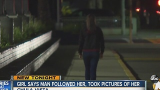 Girl says man followed her, took pictures of her - Video