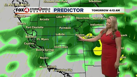 FORECAST: Mostly cloudy Monday, rain Tuesday