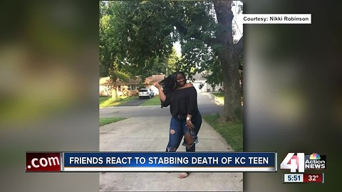 'She didn't deserve it': Friends react to stabbing death of KC teen