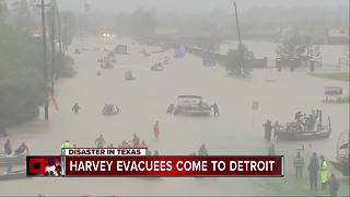 Harvey evacuees come to Detroit - Video