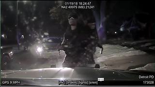VIDEO: Dash cam catches man taking a Detroit police cruiser on a joy ride - Video