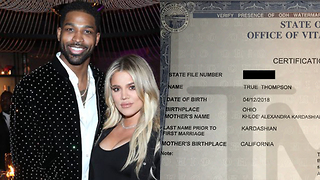 Why Did Khloe Kardashian Drop Baby True's Middle Name On Birth Certificate?! - Video