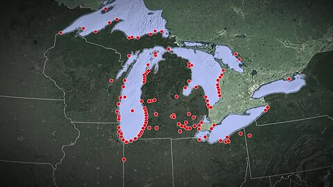 Balloon debris locations found around the Great Lakes