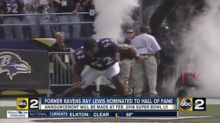 Ray Lewis Pro Football Hall of Fame nominee - Video