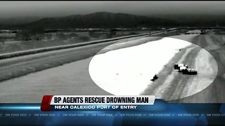 WATCH: Border Patrol Agents save drowning migrant