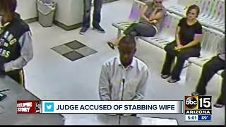 Judge accused of stabbing wife multiple times after cheating allegations - Video