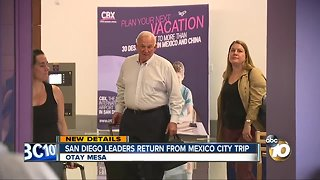 San Diego leaders return from Mexico City trip