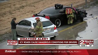 Slick roads cause concern for drivers