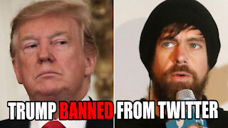 TRUMP BANNED FROM TWITTER!