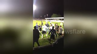 Leeds-Rhyl friendly abandoned after player brawl - Video