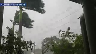 Hurricane Irma moves into Port Charlotte - Video