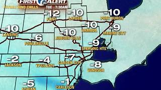 Dangerously cold wind chills