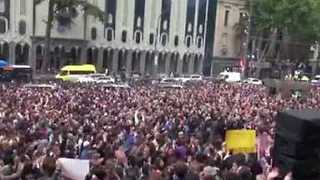 Thousands Protest in Tbilisi After Overnight Club Raids - Video