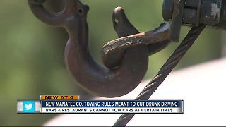 Manatee County banning bars from towing cars - Video