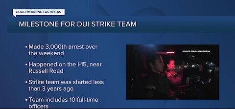 Southern Nevada's DUI Strike Team: 3K arrests in less than 3 years