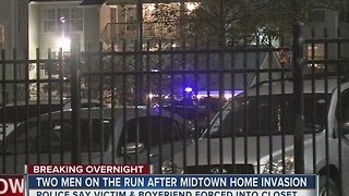 Police search for two suspects after overnight home invasion in midtown - Video
