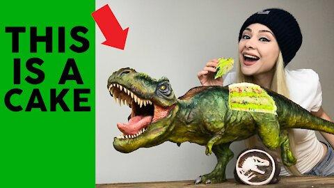 How to make a hyperrealistic 'Jurassic World' T-Rex cake