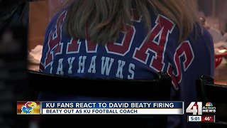 Unsurprised fans express optimism after KU fires football coach David Beaty