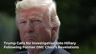 Trump Calls for Investigation Into Hillary Following Former DNC Chair's Revelations - Video