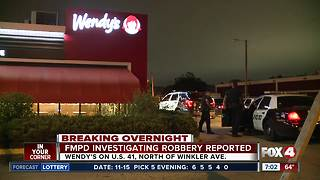 Police investigating robbery at Fort Myers Wendy's overnight