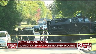 Suspect killed in officer-involved shooting in midtown Tulsa