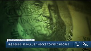 IRS sends stimulus checks to dead people