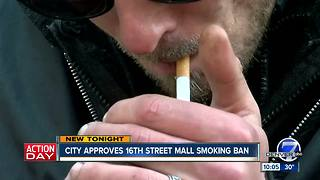 Denver City Council unanimously approves 16th St. Mall smoking ban - Video