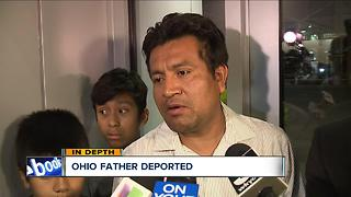 Ohio father says goodbye to his family before being deported back to Mexico