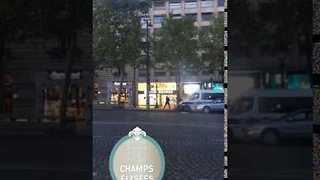 Police Seen in Immediate Aftermath of Champs-Elysees Attack - Video