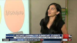 Distance learning for elementary students