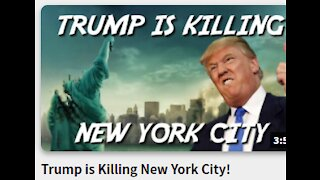 Trump is Killing New York City!- * months after mask and Lockdowns NY Still as Covid