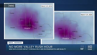 Impact no rush hour has had on roadways and air quality