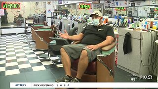 Port Charlotte barbershop reopens at midnight Monday morning