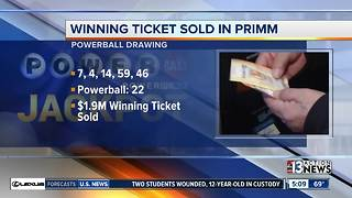 $1.9 million Powerball ticket sold at Primm Valley Lotto - Video