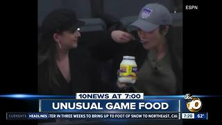 Fans eat mayonnaise at NBA game? - Video