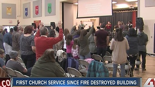 Congregation comes together after church fire - Video