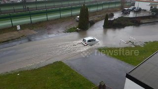 Flash floods strike central Germany