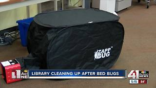 Library delays reopening amid bed bug treatment - Video