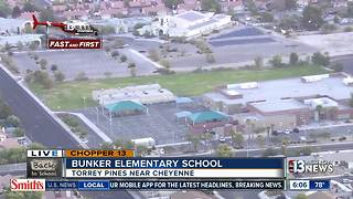 Chopper 13 flies over Bunker Elementary - Video