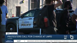 Protesters call for transparency from La Mesa PD