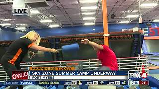 Sky Camp at Sky Zone in Fort Myers - 7am live report - Video